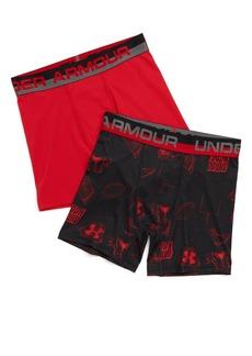 Under Armour 2-Pack Performance HeatGear® Boxer Briefs (Big Boys)