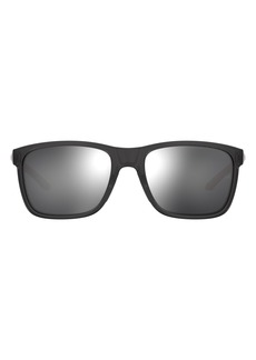 Under Armour 56mm Mirrored Square Sunglasses
