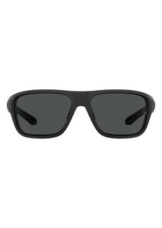 Under Armour 65mm Oversize Sport Sunglasses