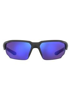 Under Armour 70mm Polarized Oversize Sport Sunglasses