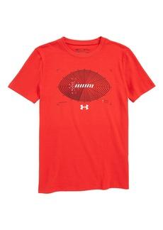 Under Armour Aerial Football HeatGear® Charged Cotton® T-Shirt (Big Boys)