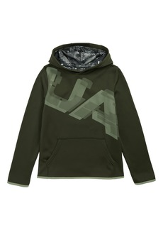 Under Armour Armour Fleece® Logo Graphic Hoodie (Big Boys)