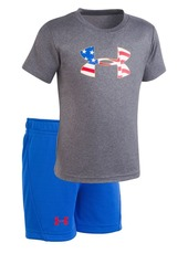 Under Armour Baby Boy's Two-Piece Americana Tee & Shorts Set