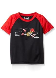 Under Armour Baby' Logo Raglan Tee Shirt black 12M