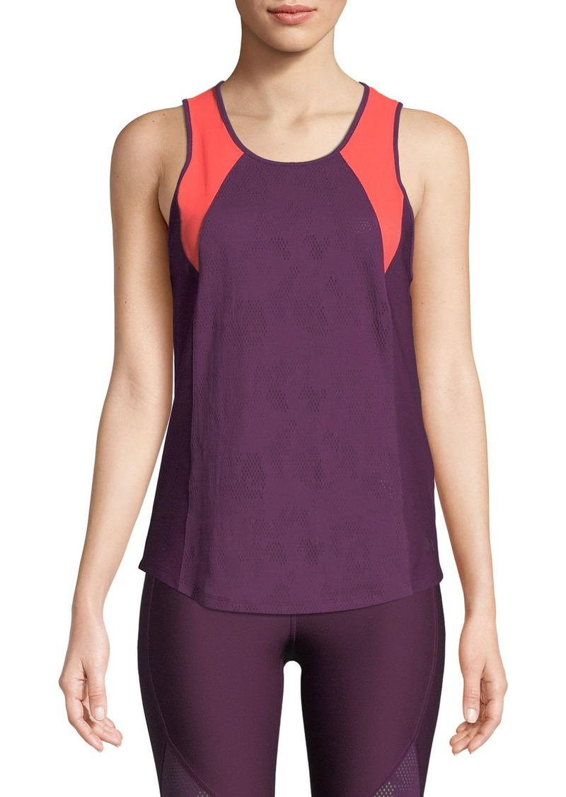 Under Armour Balance Colorblock Mesh Open-Back Tank