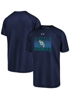 Under Armour Big Boys Seattle Mariners Logo Tech T-Shirt