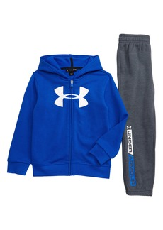 Under Armour Big Logo Full Zip Hoodie & Sweatpants Set (Toddler Boys & Little Boys)