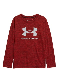 Under Armour Big Symbol Twist Long Sleeve Graphic Tee (Toddler & Little Boy)