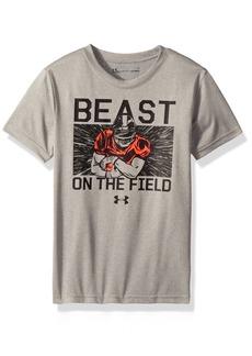 Under Armour boy Little Beast On The Field Short Sleeve T-Shirt