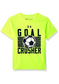 Under Armour boy Little Goal Crusher Short Sleeve T-Shirt hi gh/vis Yellow