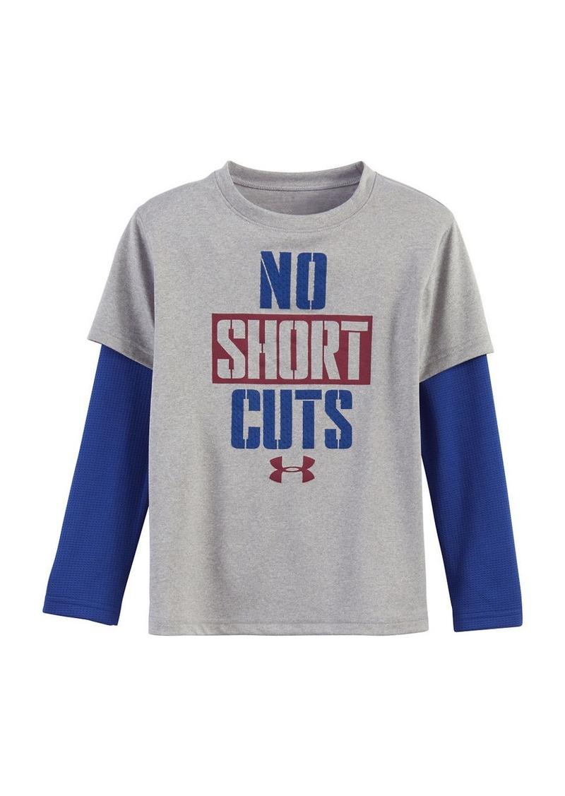 UNDER ARMOUR Boys 2-7 No Shortcuts Slider T-Shirt
