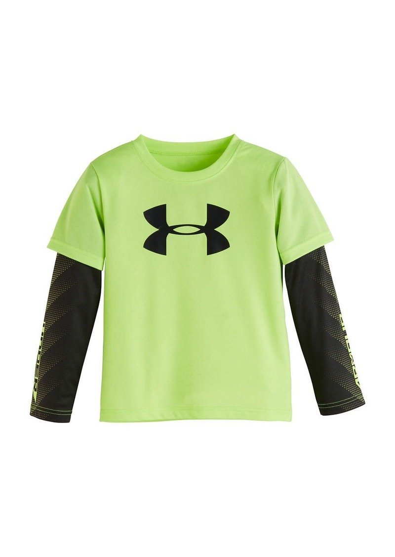UNDER ARMOUR Boys 2-7 Slider Sleeve Tee