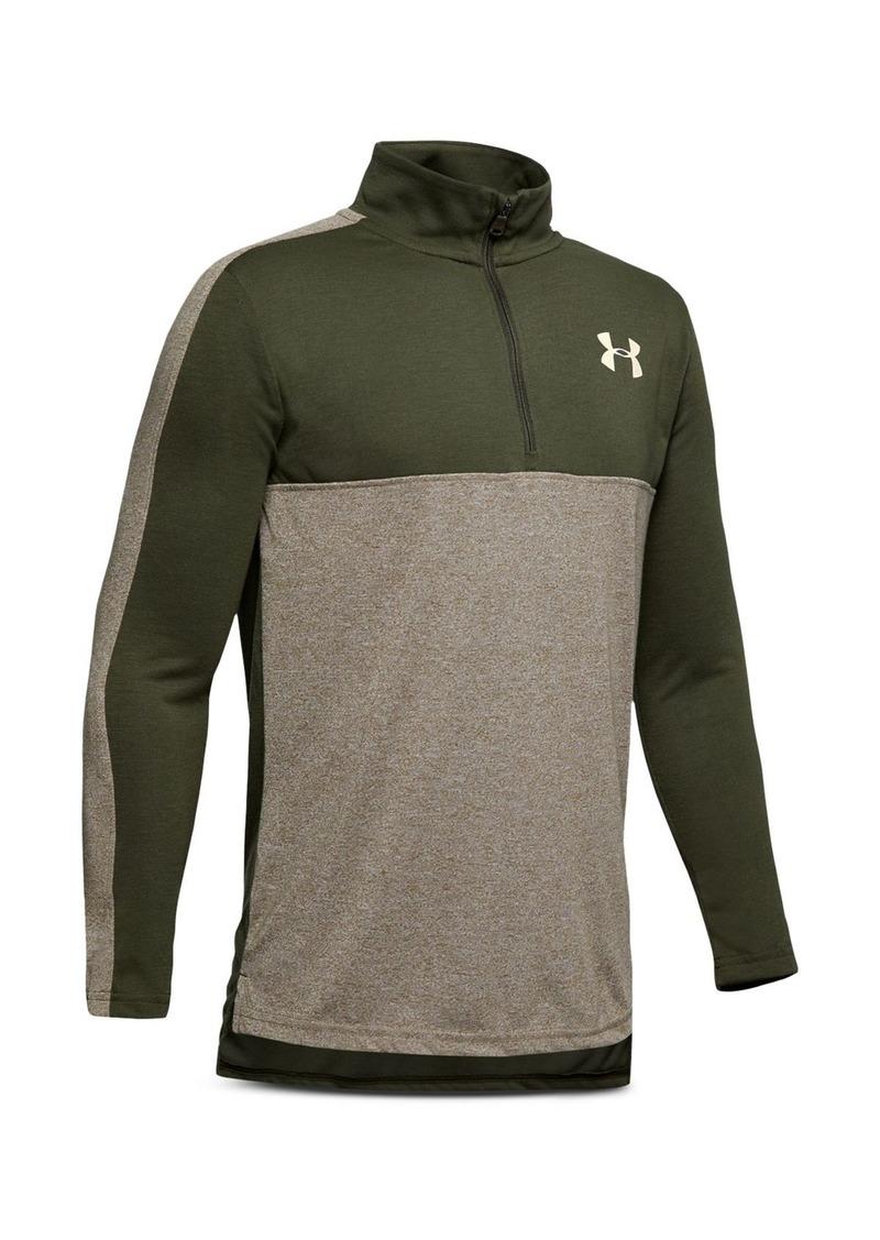 Under Armour Boys' Color-Block Quarter-Zip Sweatshirt - Big Kid