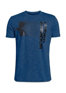 Under Armour Boys' Heathered Crossfade Logo Tee - Big Kid