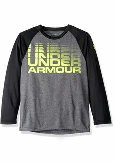 Under Armour Boys' Little Long Sleeve Raglan Graphic Tee Shirt