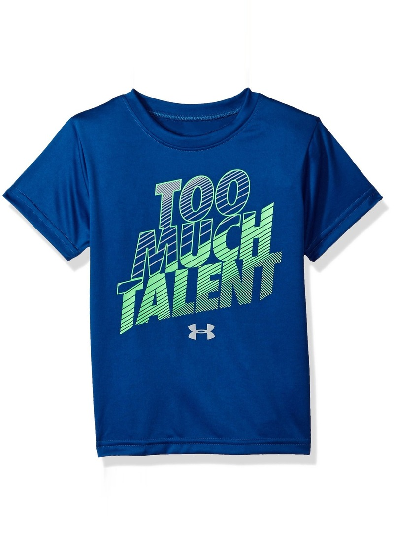d7979bfc2 Boys' Little Much Talent Short Sleeve T-Shirt Moroccan Blue. Under Armour