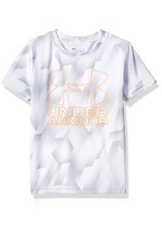 Under Armour Boys' Little Sandstorm Big Logo Short Sleeve Tee