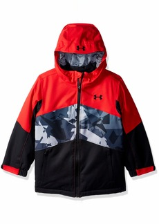 Under Armour Boys' Little Zumatrek Jacket red