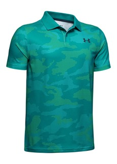 Under Armour Boys' Performance Printed Golf Polo