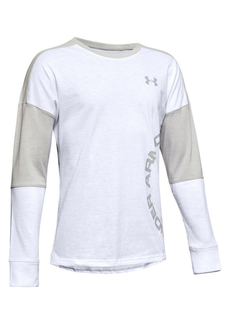 Under Armour Boy's Sporty Long-Sleeve Colorblock Tee