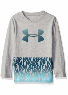 Under Armour Boys' Toddler Long Sleeve Graphic Tee Shirt