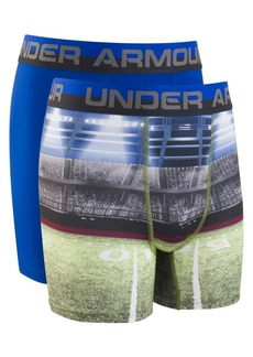 Under Armour Boy's Two-Pack Football Sublimation Boxer Briefs