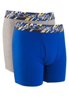 Under Armour Boy's Two-Pack Solid Cotton Boxer Briefs