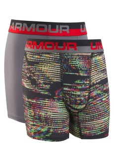 Under Armour Boy's Two-Pack Static-Print Boxer Briefs