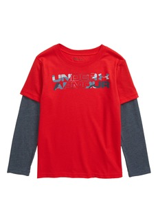 Under Armour Branded Slider Layered T-Shirt (Toddler Boys & Little Boys)