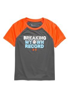 Under Armour Breaking My Own Record HeatGear® Raglan Shirt (Toddler Boys & Little Boys)