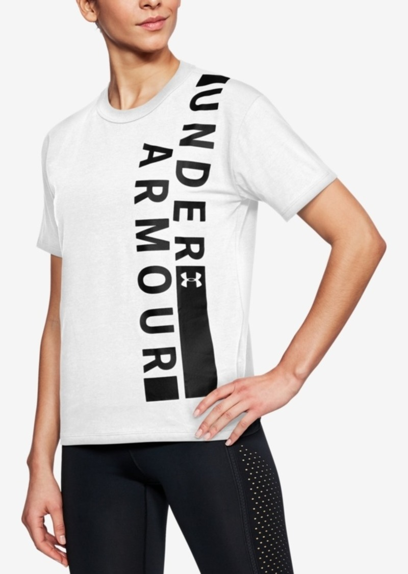 Under Armour Charged Cotton Metallic-Logo T-Shirt
