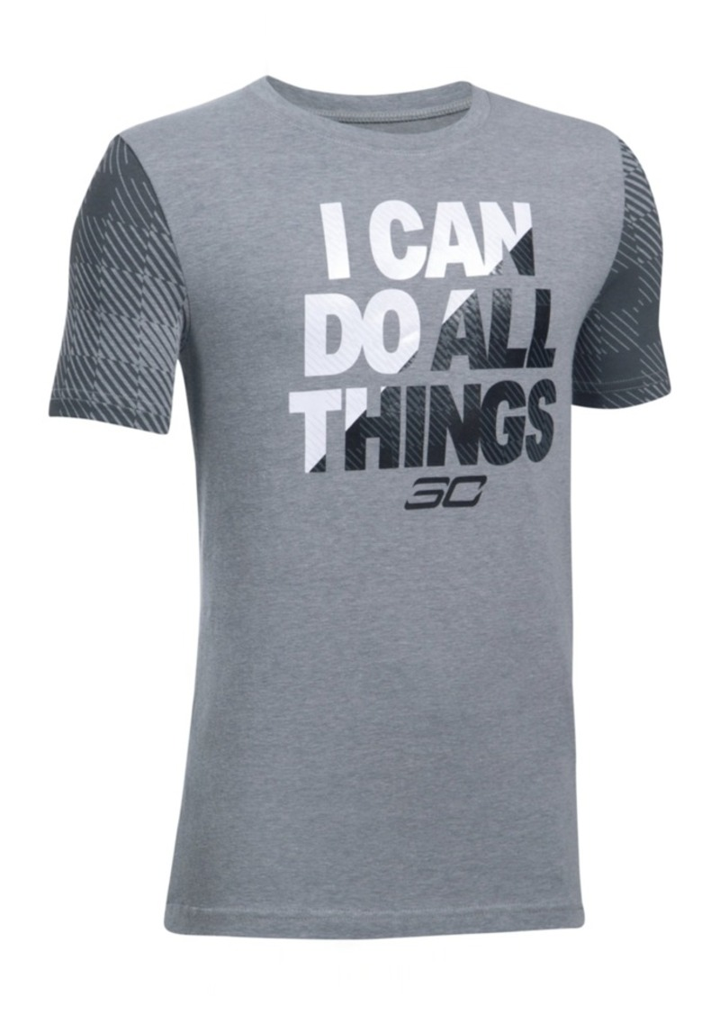 c95c3fd4 Charged Cotton SC30 Steph Curry I Can Graphic-Print T-Shirt, Big Boys. Under  Armour