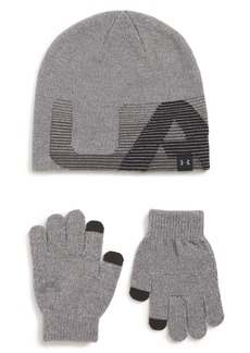 Under Armour ColdGear® Beanie & Gloves Set (Big Boys)