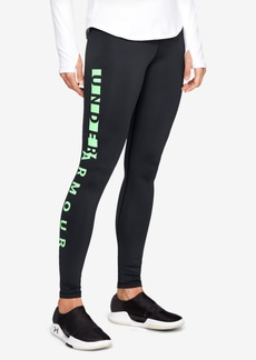 Under Armour ColdGear Fleece-Lined Logo Leggings