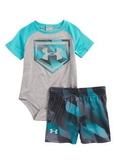 Under Armour Electric Field Baseball HeatGear® Bodysuit & Shorts Set (Baby Boys)