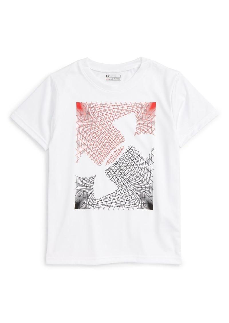 Under Armour 'First String' HeatGear® T-Shirt (Toddler Boys & Little Boys)