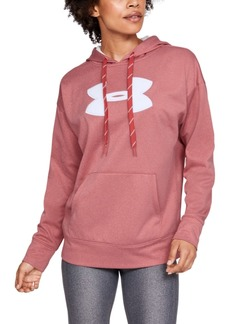 Under Armour Women's Fleece Chenille-Logo Hoodie