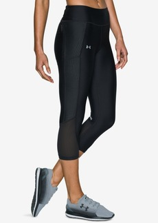 Under Armour Fly By HeatGear Printed Running Capri Leggings