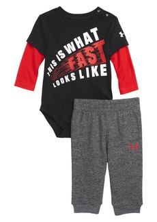 Under Armour Graphic Bodysuit & Jogger Pants Set (Baby)