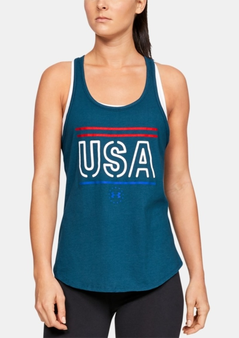 Under Armour Women's Graphic Cross-Back Tank Top