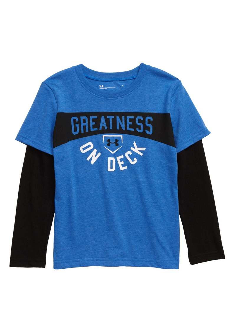 Under Armour Greatness On Deck Graphic Layered Sleeve T-Shirt (Toddler Boys & Big Boys)