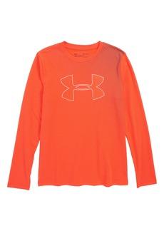 Under Armour Halftone Logo HeatGear® Shirt (Big Boys)