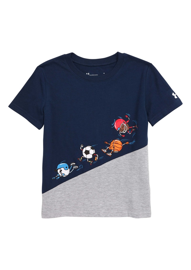 Under Armour HeatGear® Ball Team Graphic Tee (Toddler & Little Boy)