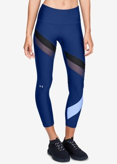 Under Armour HeatGear Colorblocked Mesh-Inset Ankle Leggings