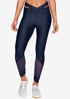 Under Armour HeatGear Cutout Mesh-Inset Ankle Leggings