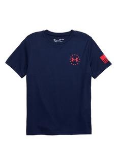 Under Armour HeatGear® Freedom Flag Graphic T-Shirt (Big Boys)