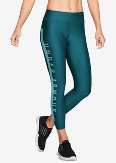 Under Armour HeatGear Logo Compression Cropped Leggings