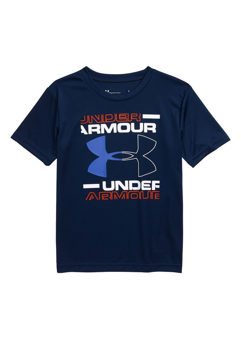 Under Armour HeatGear® Logo Graphic Tee (Toddler & Little Boy)