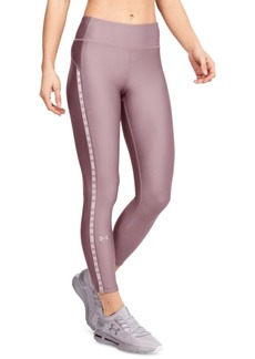 Under Armour Women's HeatGear Logo-Stripe Leggings