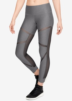 Under Armour HeatGear Mesh-Trimmed Ankle Leggings